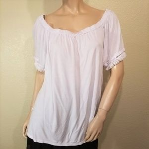 Michael Kors XL On or Off Shoulder White Top